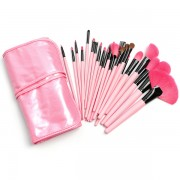 24 piece Professional Makeup Cosmetic Brush Set Kit Case with Bag (Pink)