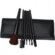 7 PCS Cosmetic Makeup Tool Powder Blush Eyelash Brow Concealer Lip Brush Kit Set