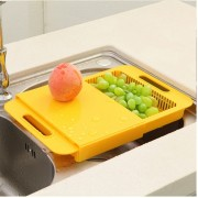 Multipurpose Cut Wash Cutting Board Chopping Block with Basket