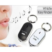 Whistle Controlled Key Finder With LED TorchLight (Black)