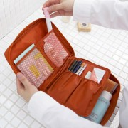 Portable Travel Multi Pocket Cosmetic Toiletries Organizer Bag